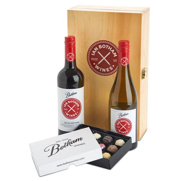 Wine Gifts ALL-ROUNDER-CAB-SAV-CHARD-BOX-TRUFFLES