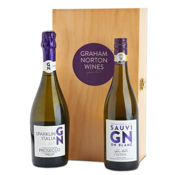 Wine Gifts Graham Norton Prosecco-sav-blanc-twin-box offer