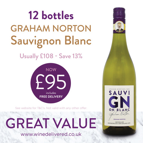 Graham Norton Sav Blanc offer FREE Online Wine Delivered