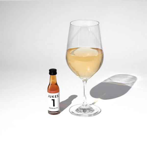 Matthew Jukes white wine No 1 beside the Glass
