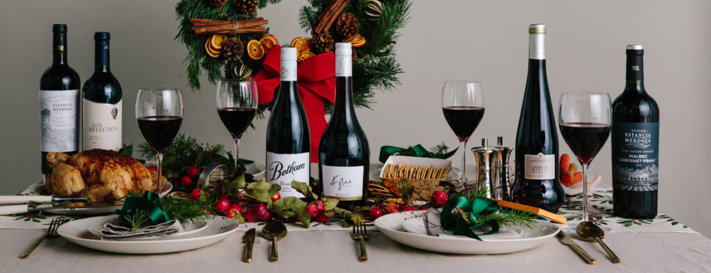 FREE Online Wine Delivery Botham Wine Christmas plates and food