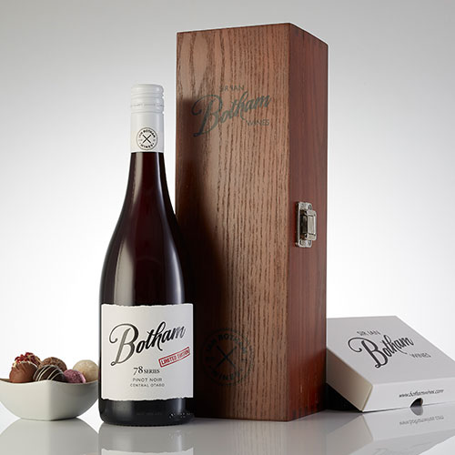 Botham 79 Pinot Noir with Truffle chocolates