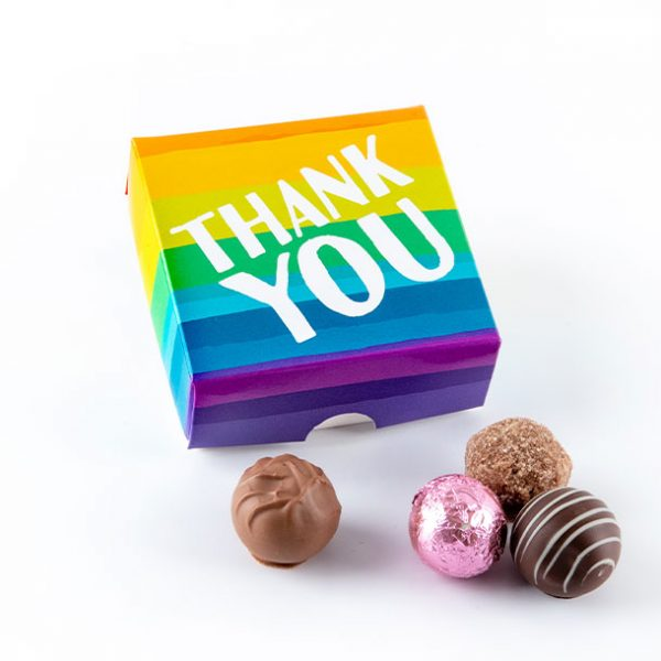 Thank You Rainbow Truffle Chocolate Box