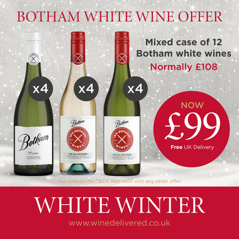 Mixed case of white Botham wines