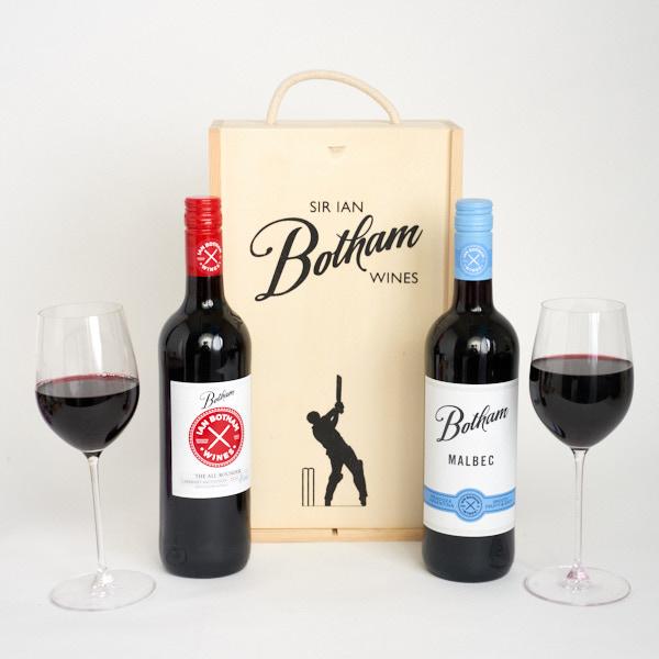 Botham Cab Sav & Melbec in a gift box