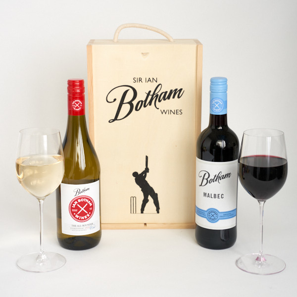 All Rounder & Botham Malbec in a gift box