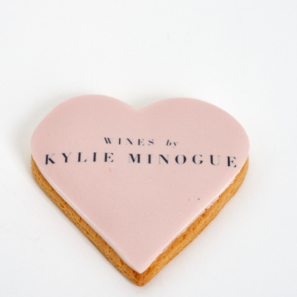 Kylie Minogue heart shaped biscuit