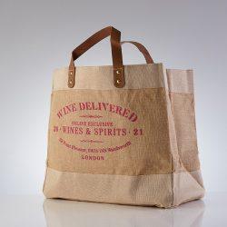 WIne Delivered Bag for Life Pink